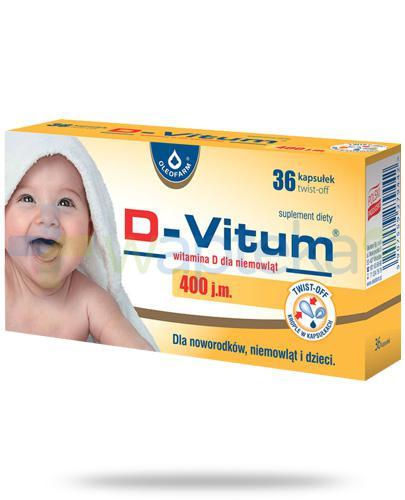 D-Vitum 400 witamina D dla niemowląt 36 kapsułek