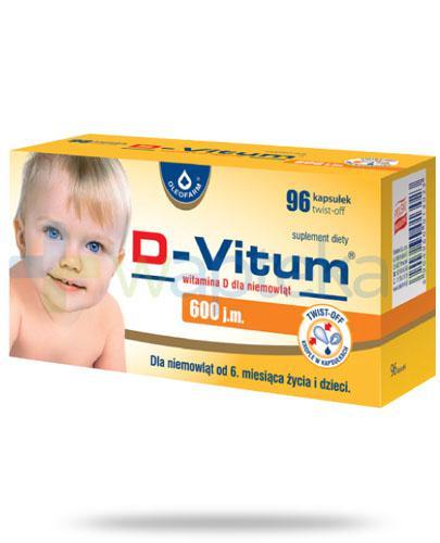 D-Vitum 600 witamina D dla dzieci 6m+ 96 kapsułek