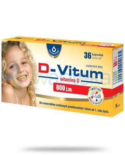 D-Vitum 800 witamina D dla niemowląt 36 kapsułek