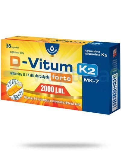 D-Vitum Forte 2000j.m. K2 witamina D i K dla dorosłych 36 kapsułek