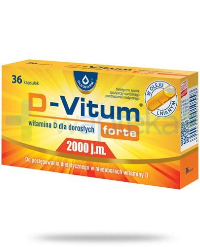 D-Vitum Forte 2000j.m. witamina D dla dorosłych 36 kapsułek