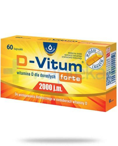 D-Vitum Forte 2000j.m. witamina D dla dorosłych 60 kapsułek