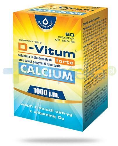 D-Vitum Forte Calcium 1000j.m. wapń z muszli ostryg z witaminą D3 60 tabletek