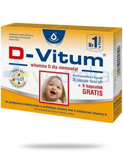 D-Vitum witamina D dla niemowląt 36 kapsułek + 6 kapsułek