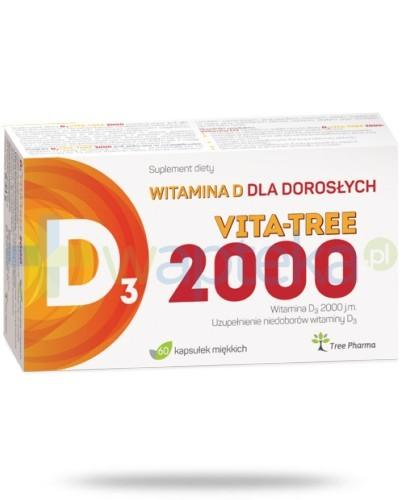 D3 Vita-Tree 2000 witamina D3 dorośli kapsułki 60 sztuk
