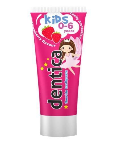 Dentica Kids pasta do zębów dla dzieci 0-6 lat smak truskawkowy 50 ml