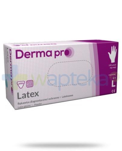 DermaPro Latex rękawice diagnostyczne lateksowe niejałowe pudrowane rozmiar L 100 sztuk