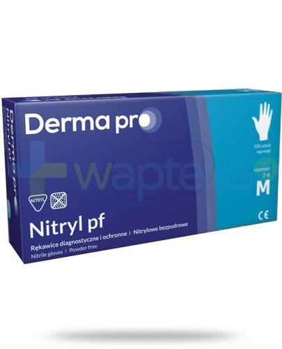 DermaPro Nitryl PF rękawice diagnostyczne nitrylowe bezpudrowe rozmiar M 100 sztuk