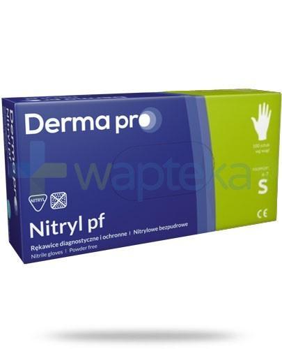 DermaPro Nitryl PF rękawice diagnostyczne nitrylowe bezpudrowe rozmiar S 100 sztuk