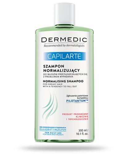 Dermedic Capilarte szampon normalizujący do włosów przetłuszczających się z problemem wypadania 300 ml