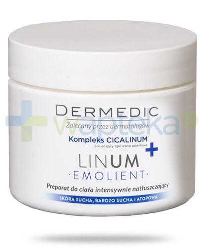 Dermedic Emolient Linum preparat do ciała intensywnie natłuszczający z kompleksem Cicalinum+ skóra sucha i atopowa 225 g