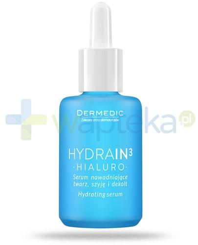 Dermedic Hydrain 3 Hialuro serum nawadniające twarz, szyję i dekolt 30 ml
