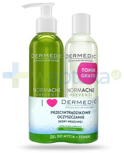Dermedic Normacne Preventi żel antybakteryjny do mycia 200 ml + Normacne Preventi tonik oczyszczająco regulujący 200 ml [GRATIS]