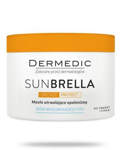 Dermedic Sunbrella Bronze Protect masło utrwalające opaleniznę do twarzy i ciała do skóry wrażliwej 225 g
