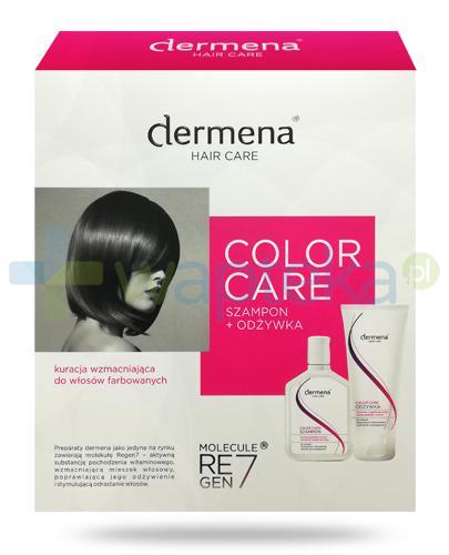 Dermena Color Care szampon wzmacniająco-regenerujący hamujący wypadanie włosów 200 ml + odżywka wzmacniająco-regenerująca hamująca wypadanie włosów 200 ml [ZESTAW]