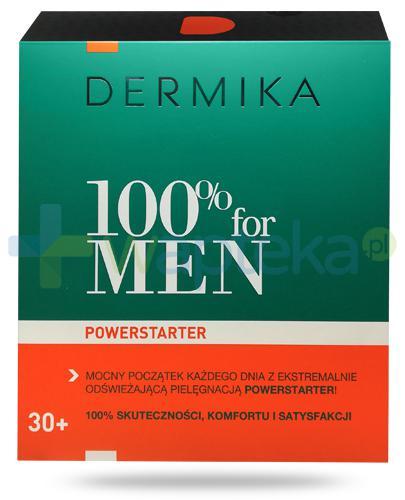 Dermika 100% For Men PowerStarter, zestaw dla mężczyzn 30+ [ZESTAW]