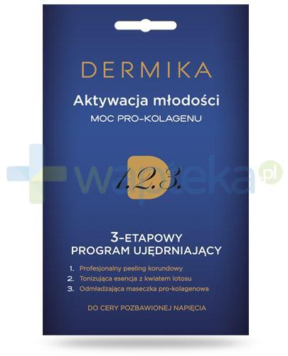 Dermika Aktywacja młodości moc pro-kolagenu 3-etapowy program ujędrniający do cery pozbawionej napięcia 3x 2 ml
