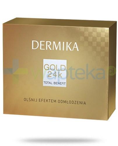 Dermika Gold 24k ZESTAW krem stymulator młodości 55+ na dzień i noc 50 ml + optyczny korektor zmarszczek 10 ml