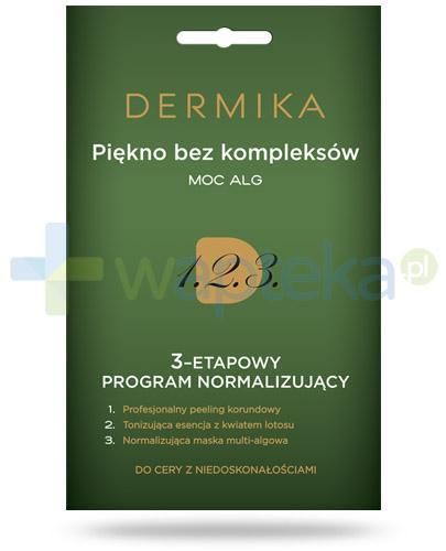 Dermika Piękno bez kompleksów moc alg 3-etapowy program normalizujący do cery z niedoskonałościami 3x 2 ml