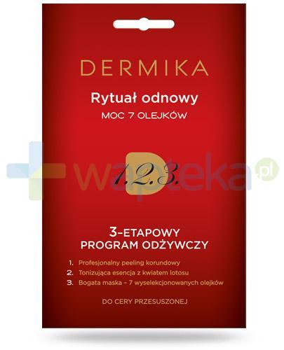 Dermika Rytuał odnowy moc 7 olejków 3-etapowy program odżywczy do cery przesuszonej 3x 2 ml
