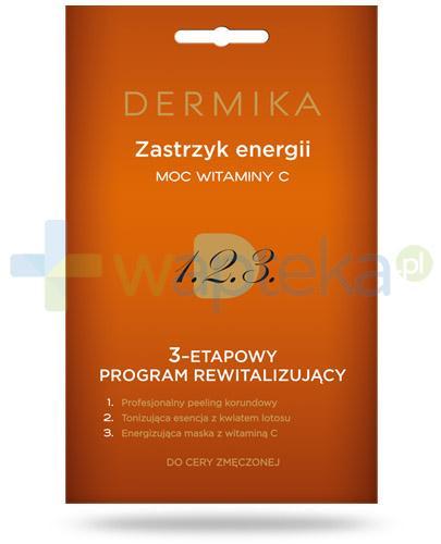 Dermika Zastrzyk energii moc witaminy C 3-etapowy program rewitalizujący do cery zmęczonej 3x 2 ml