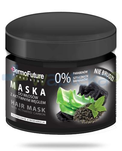Dermo Future Maska do włosów  z aktywnym węglem 300 g