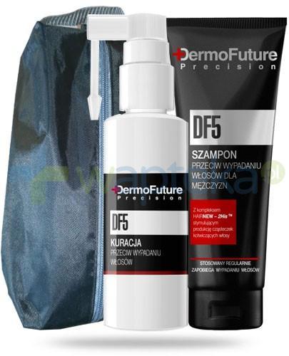 Dermo Future Precision DF 5 ZESTAW dla mężczyzn szampon przeciw wypadaniu włosów 200 ml + kuracja przeciw wypadaniu włosów 30 ml
