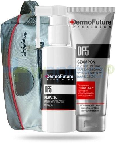 Dermo Future Precision DF 5 ZESTAW dla mężczyzn szampon przeciwłupiezowy 200 ml + kuracja przeciw wypadaniu włosów 30 ml