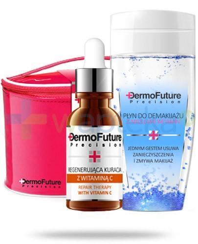 Dermo Future ZESTAW regenerująca kuracja z witaminą C 20 ml + płyn do demakijażu z micelami witamin 150 ml + kosmetyczka - Data ważności 31-07-2017