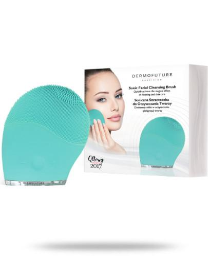 Dermo Future Soniczna szczoteczka do oczyszczania twarzy zielona 1 sztuka