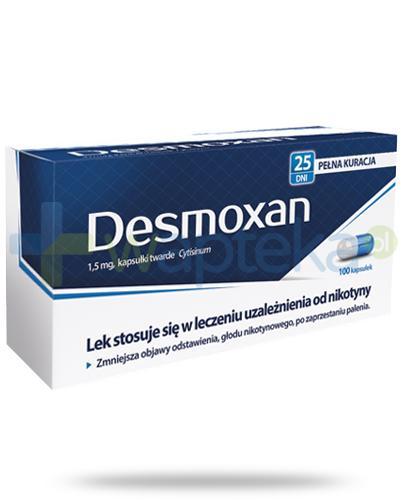 Desmoxan 1,5mg leczenie uzależnienia od nikotyny 100 kapsułek
