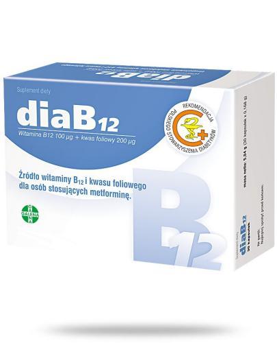 DiaB12 witamina B12 100μg i kwas foliowy 200μg 30 kapsułek