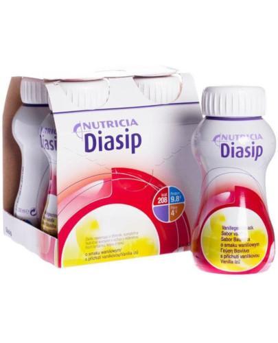 Diasip płyn odżywczy dla diabetyków, smak waniliowy 4 x 200 ml