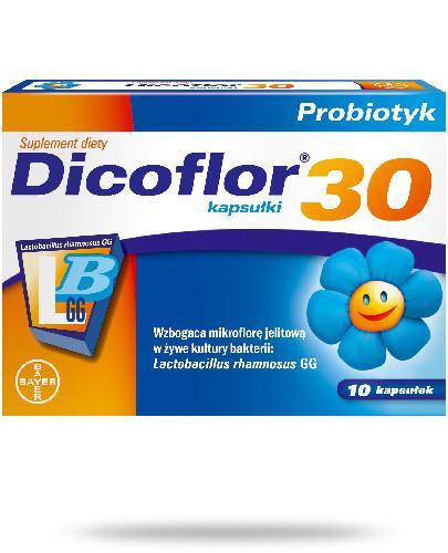 Dicoflor 30 dla niemowląt i dzieci 10 kapsułek