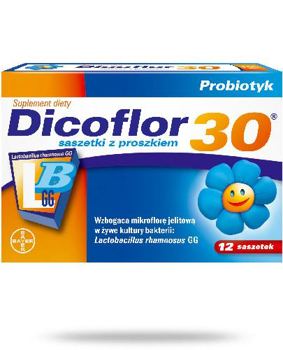 Dicoflor 30 dla niemowląt i dzieci 12 saszetek
