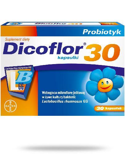 Dicoflor 30 dla niemowląt i dzieci 30 kapsułek