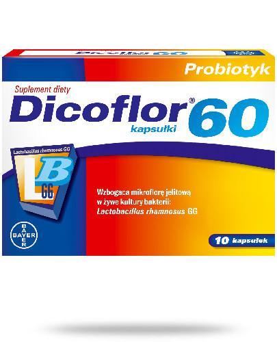 Dicoflor 60 dla dorosłych 10 kapsułek [Data ważności 31-03-2020]