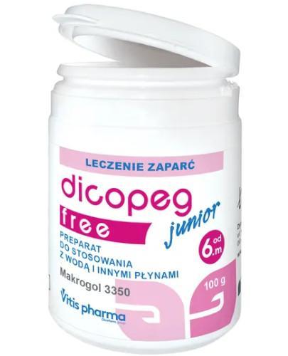 Dicopeg Junior Free leczenie zaparć dla dzieci 6m+ 100 g