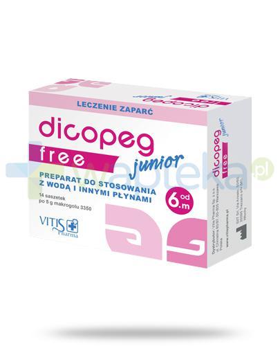 Dicopeg Junior Free leczenie zaparć dla dzieci 6m+ 14 saszetek