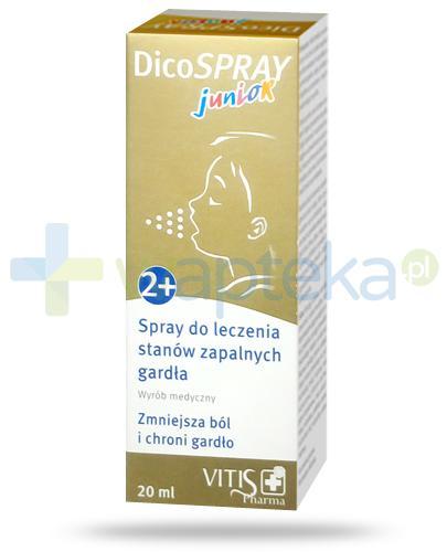 DicoSpray Junior do leczenia stanów zapalnych gardła dla dzieci 2+ 20 ml