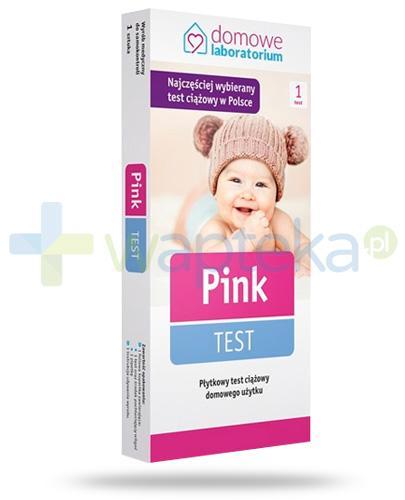 Domowe Labolatorium Pink test ciążowy płytkowy 1 sztuka