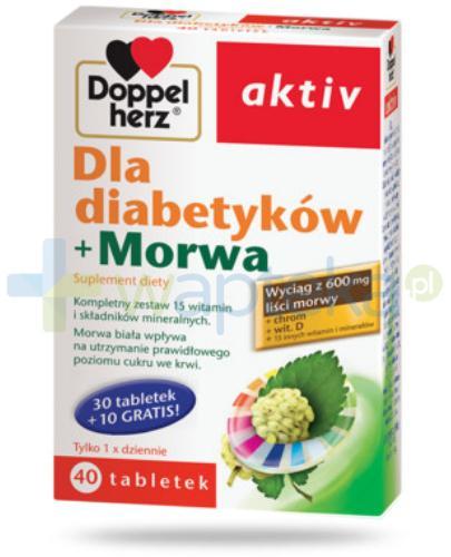 DoppelHerz Aktiv Dla diabetyków + Morwa 40 tabletek