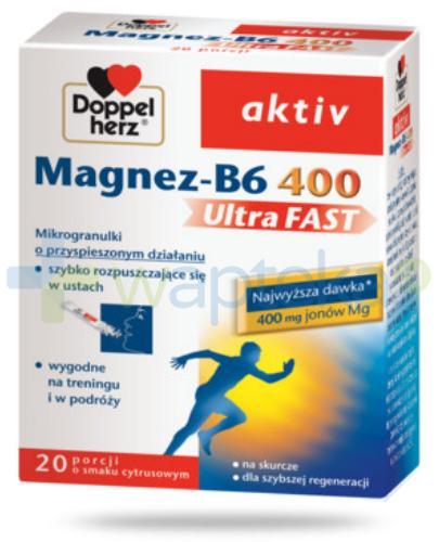 Doppelherz aktiv Magnez-B6 400 UltraFAST 20 saszetek