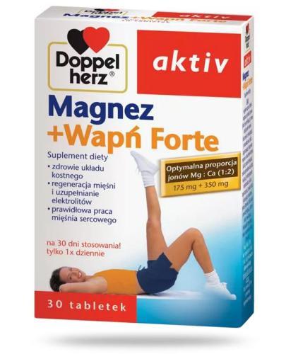 Doppelherz Aktiv Magnez+Wapń Forte 30 kapsułek