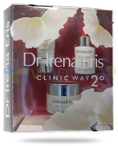 Dr Irena Eris Clinic Way 2° Odbudowa retinoidalna krem SPF20 przeciwzmarszczkowy na dzień 50 ml + krem przeciwzmarszczkowy na noc 30 ml + serum przeciwzmarszczkowe na dzień i na noc 30 ml ZESTAW