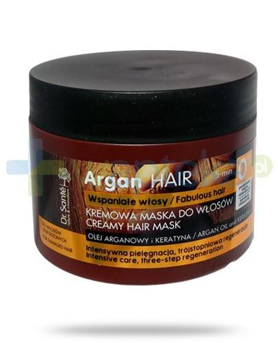Dr. Sante Argan kremowa maska regenerująca do włosów z olejem arganowym i keratyną 300 ml Elfa Pharm