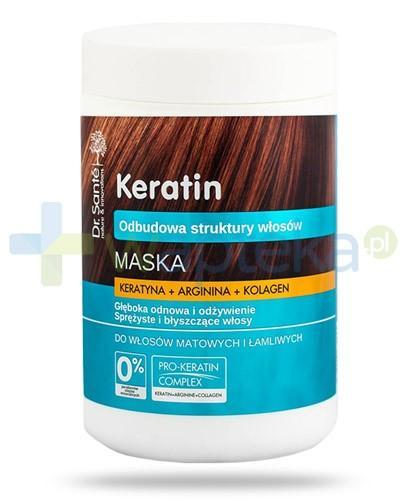 Dr. Sante Keratin maska z keratyną argininą kolagenem do włosów matowych i łamliwych 1000 ml Elfa Pharm