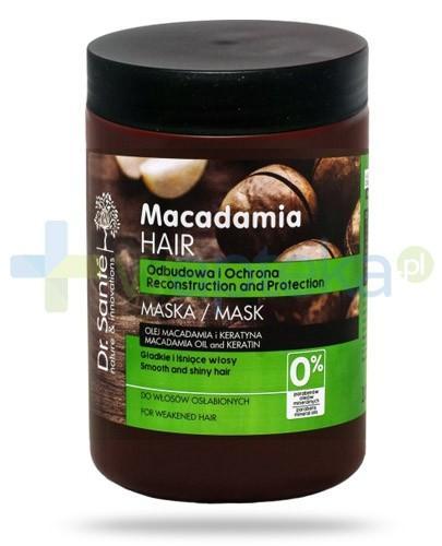 Dr. Sante Macadamia maska do włosów z olejem macadamia i keratyną odbudowująca ochronna 1000 ml Elfa Pharm