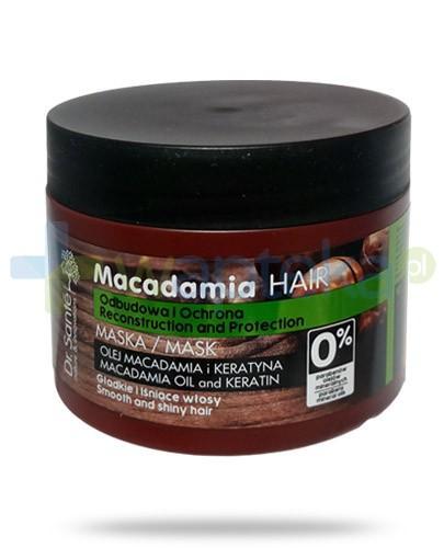 Dr. Sante Macadamia maska do włosów z olejem macadamia i keratyną odbudowująca, ochronna 300 ml Elfa Pharm