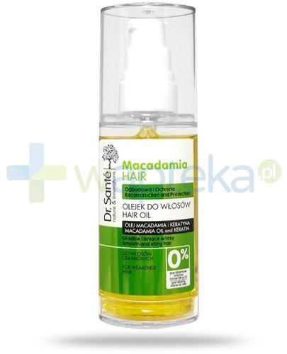 Dr. Sante Macadamia olejek do włosów odbudowujący ochronny z olejem macadamia i keratyną 50 ml Elfa Pharm